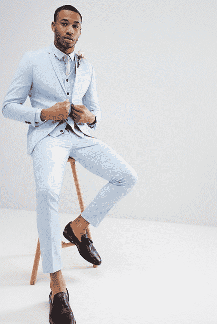 Anzug Pastellton Männer